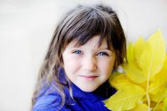Portrait of funky little child girl Stock Photography