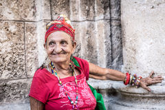 Portrait of a funny african cuban woman Stock Images