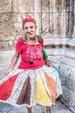 Portrait of a funny african cuban woman Stock Photos