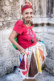Portrait of a funny african cuban woman Royalty Free Stock Photo
