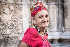 Portrait of a funny african cuban woman Royalty Free Stock Images