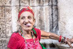 Portrait of a funny african cuban woman Royalty Free Stock Photography