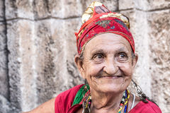 Portrait of a funny african cuban woman.  Royalty Free Stock Photography
