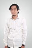 Portrait of a Funny Asian Businessman Stock Photos