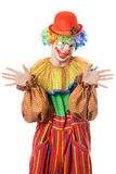 Portrait of a funny clown Stock Photo