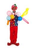 Portrait funny clown Stock Photography
