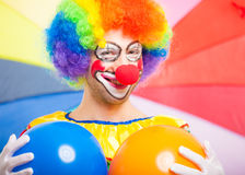 Portrait of a funny clown Royalty Free Stock Images