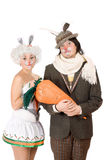 Portrait of a funny couple Royalty Free Stock Photos