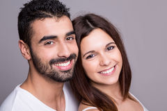 Portrait of a funny couple Royalty Free Stock Photography
