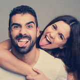 Portrait of a funny couple Royalty Free Stock Image
