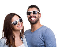 Portrait of a funny couple Stock Photo