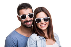 Portrait of a funny couple Stock Images
