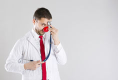 Funny doctor Royalty Free Stock Photo