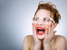 Expressive woman Stock Image