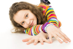 Portrait of a funny girl teenager Royalty Free Stock Photo