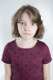 Portrait of funny girl ten years. Royalty Free Stock Photo