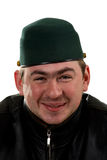 Portrait of funny happy man in hat Royalty Free Stock Photos