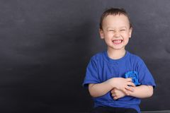 Portrait of a funny little boy Royalty Free Stock Images
