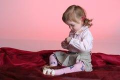 Portrait of funny little girl Stock Photo