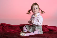 Portrait of funny little girl Royalty Free Stock Photo