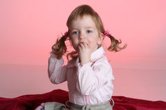 Portrait of funny little girl Stock Image