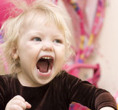 Portrait of a funny  little girl. Royalty Free Stock Photo