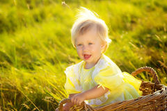 Portrait of funny little girl Royalty Free Stock Photography
