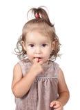 Portrait of funny little girl Stock Image