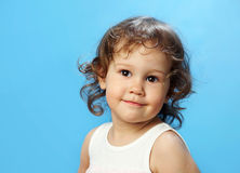 Portrait of funny lovely little girl Royalty Free Stock Image