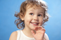 Portrait of funny lovely little girl Stock Photography