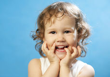 Portrait of funny lovely little girl Royalty Free Stock Photo