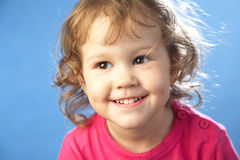 Portrait of funny lovely little girl Stock Image