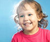 Portrait of funny lovely little girl Royalty Free Stock Photography