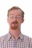 Portrait of funny man Stock Photos