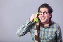 Portrait of funny man in glasses Stock Image