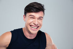 Portrait of a funny man laughing Royalty Free Stock Image