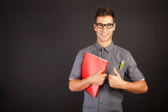 Portrait of funny nerd man Stock Photos