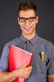 Portrait of funny nerd man Stock Photo
