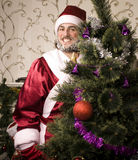 Portrait of funny Santa Claus Stock Photography