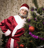 Portrait of funny Santa Claus Royalty Free Stock Photo