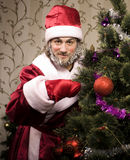 Portrait of funny Santa Claus Royalty Free Stock Image