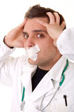 Portrait of funny young doctor Royalty Free Stock Photo