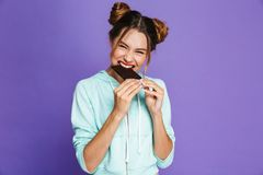 Portrait of a funny young girl stock photography
