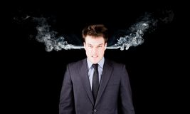 Portrait of a furious businessman Stock Photo