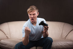 Portrait of a gamer Royalty Free Stock Images