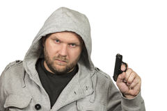 Portrait of gangster Royalty Free Stock Image
