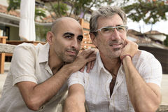 Portrait of a gay couple royalty free stock images