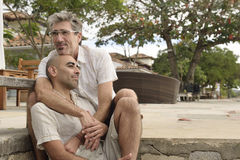Portrait of a gay couple Royalty Free Stock Image