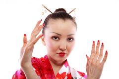Portrait of geisha Royalty Free Stock Images