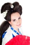 Portrait Of Geisha Stock Photos